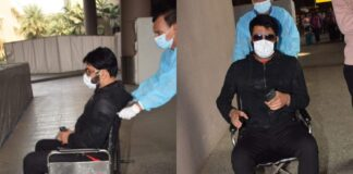 comedy-superstar-kapil-sharma-was-seen-sitting-on-a-wheelchair